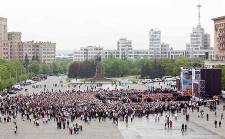 Реальна кількість мирян на площі Свободи