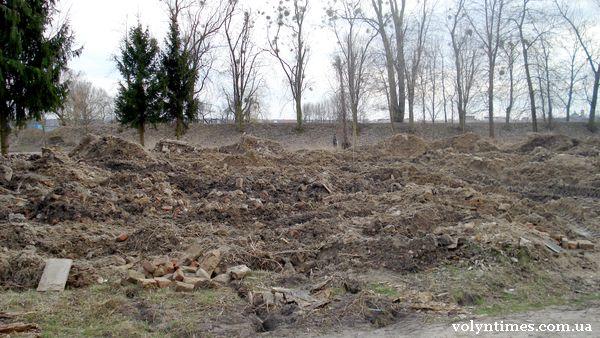 Вивезені залишки масового поховання
