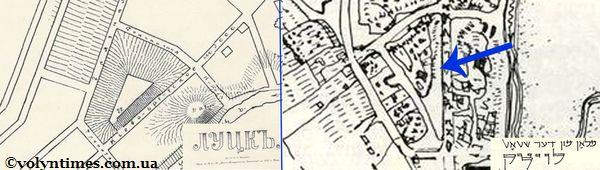 Плани П'ятницької гірки (1910 року та єврейський план)