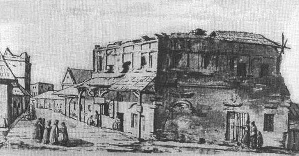 Нинішня вулиця Драгоманова на літографії К.Войняковського 1797 р.