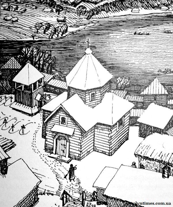 Пропозиція Р.Метельницького по відбудові тризрубного храму Іоана Христителя з дзвіницею