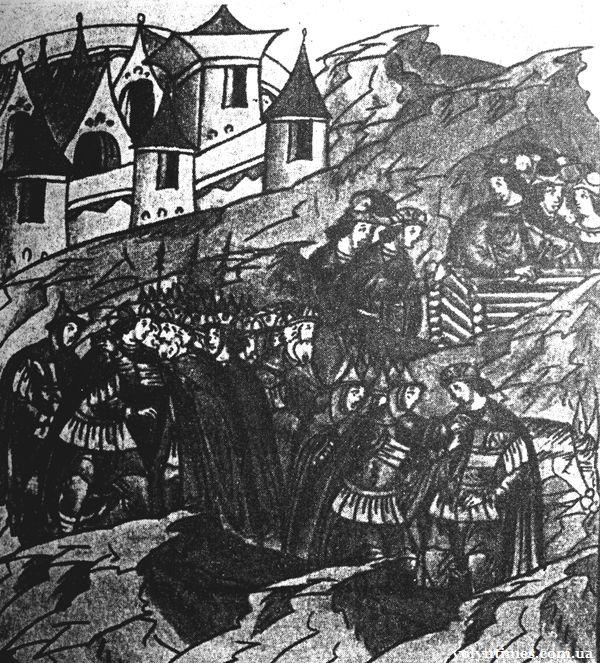 Поховання коня Андрієм Боголюбським в Луцьку