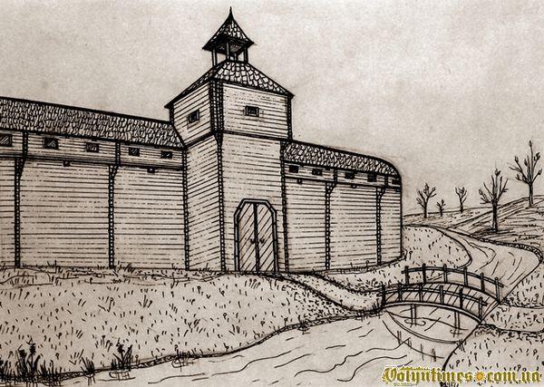 Можливий вигляд в'їздної вежі замку в Камені