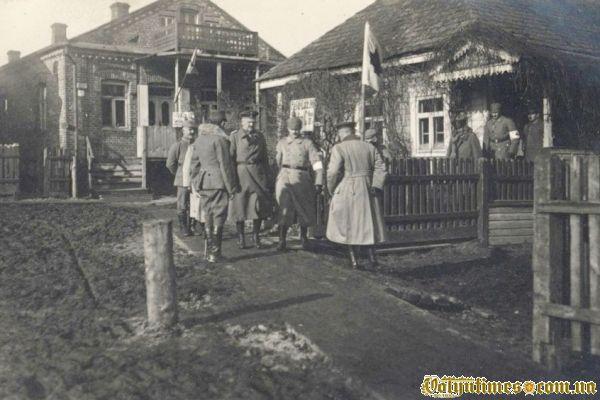 Солдати поблизу госпіталя 1916 р.
