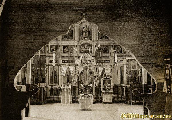 Інтерєр церкви Різдва Богородиці